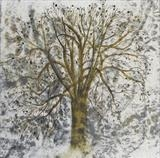 Horse Chestnut by Claire Meharg, Drawing, Frottage and walnut ink