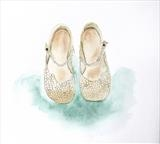 The Wedding Shoes by Claire Meharg, Drawing, Watercolour